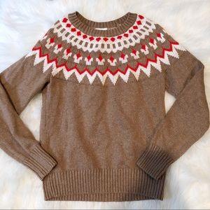 Old Navy Fair Isle Nordic Print Sweater